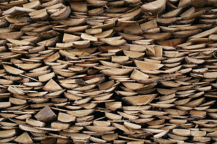 Structure of stacked wood boards