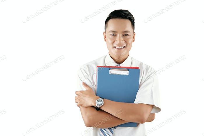 Happy White Collar Worker
