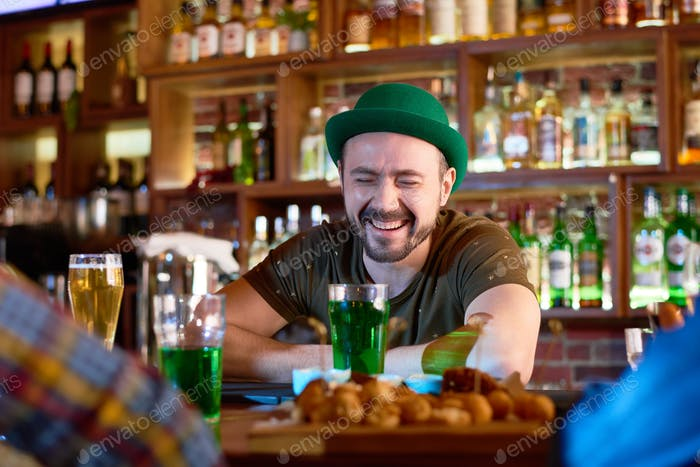 Bearded Barman with Toothy Smile