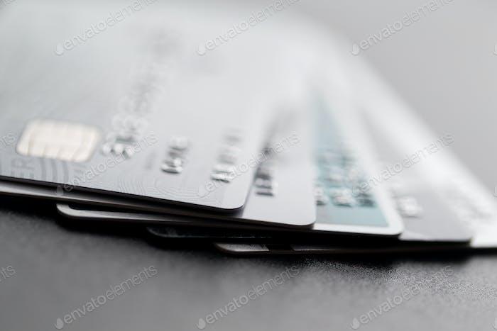 Stapel von Kreditkarte