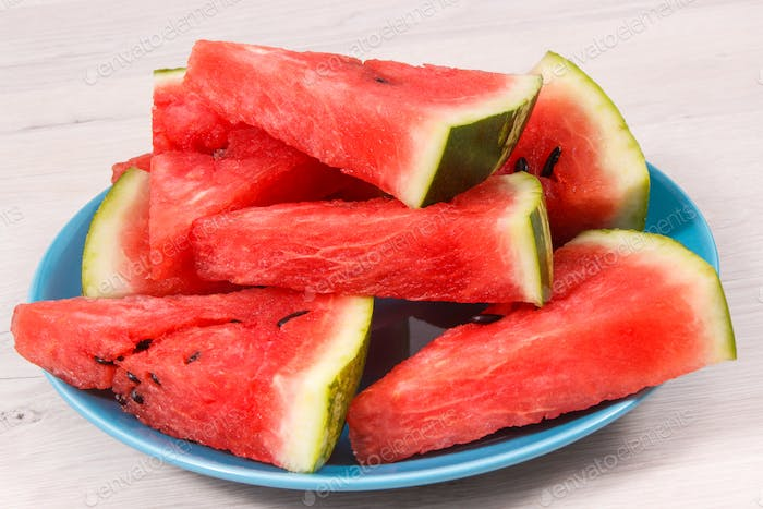 Natural watermelon as source vitamins and minerals, concept of juicy dessert
