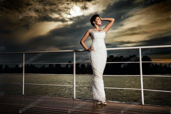 Glamouröse Braut.