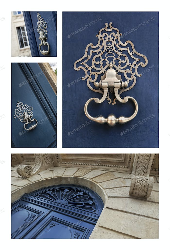 Knockers of prestigious French mansions