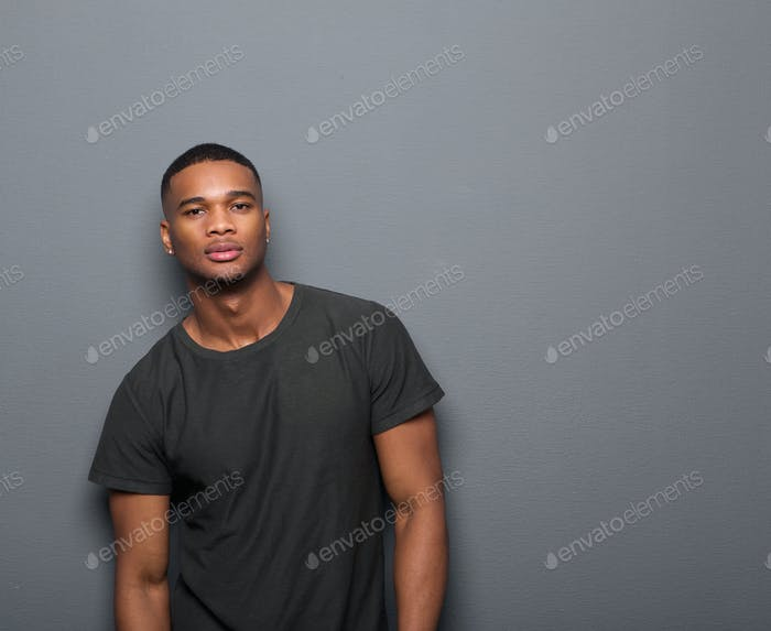 Portrait of one african american man