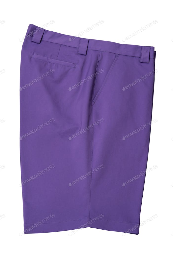 Purple short pants trousers for man or woman