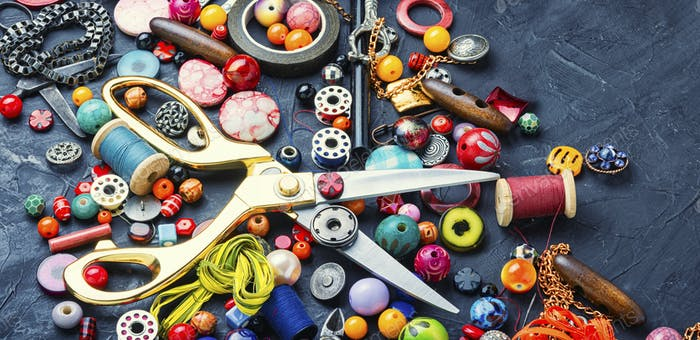Large set of beads for creativity