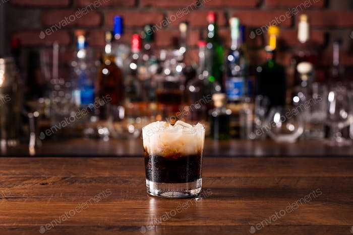 Refreshing White Russian Cocktail