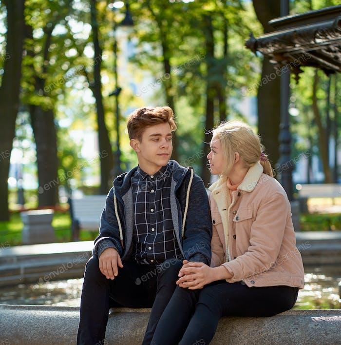 Girlfriend and Boyfriend falling in love