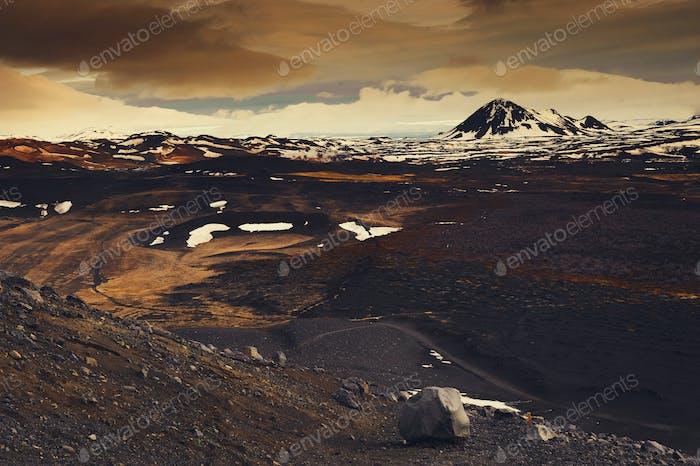 Island Landschaft Reisefoto