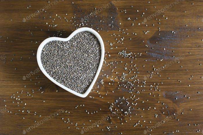 Heart Healthy Chia Seeds Horizontal