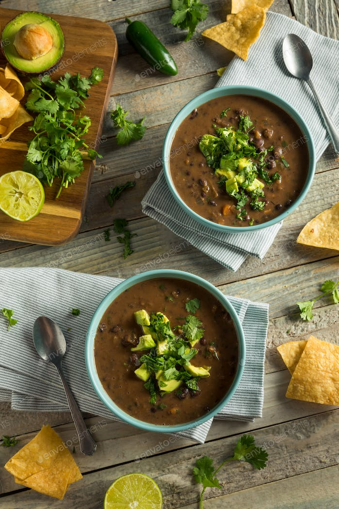 Fresh Homemade Black Bean Soup