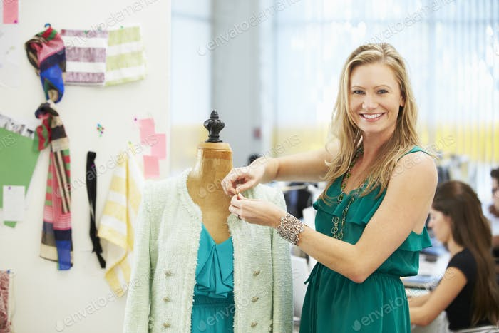 Fashion Designer In Studio