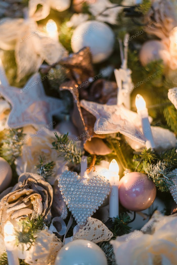Christmas ornaments are decorations usually made of glass, metal, wood or ceramics that used to