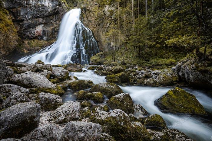 Gollinger Waterfall near Salzburg in Austria