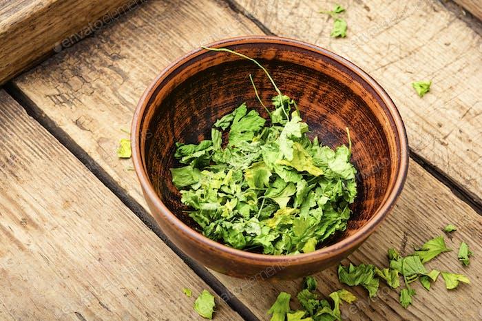 Dried parsley seasoning
