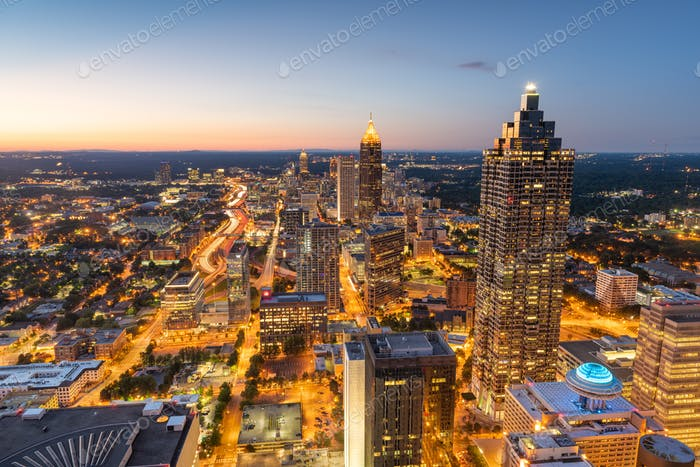 Atlanta, Georgia, USA Innenstadt Skyline