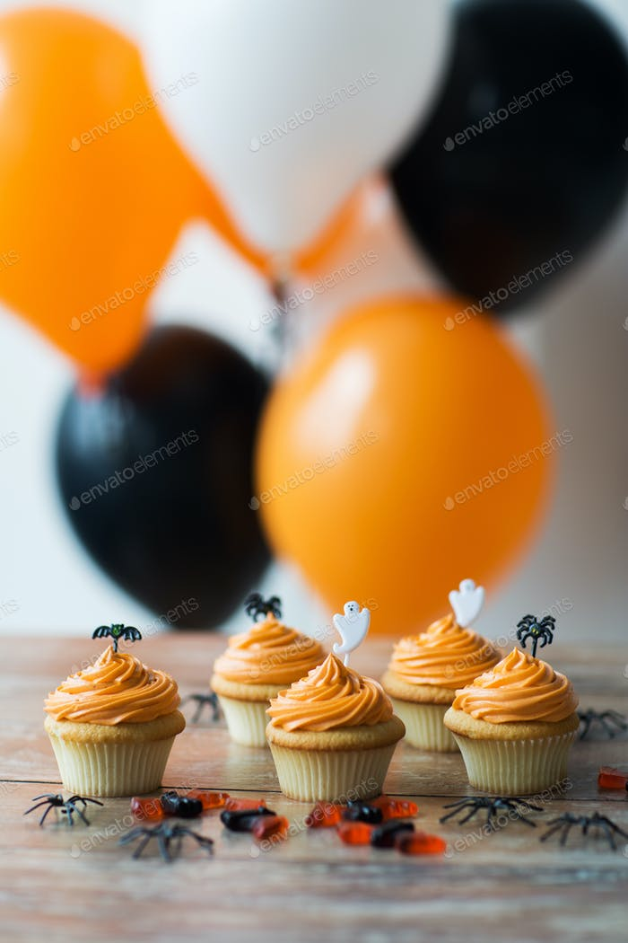 halloween party cupcakes or muffins on table