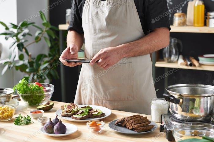 Bild von Lebensmitteln für Blog