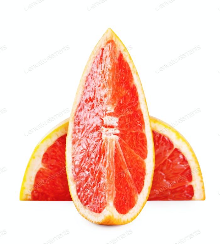 Cut off a slice of grapefruit