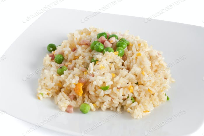 Cantonese rice, chinese food