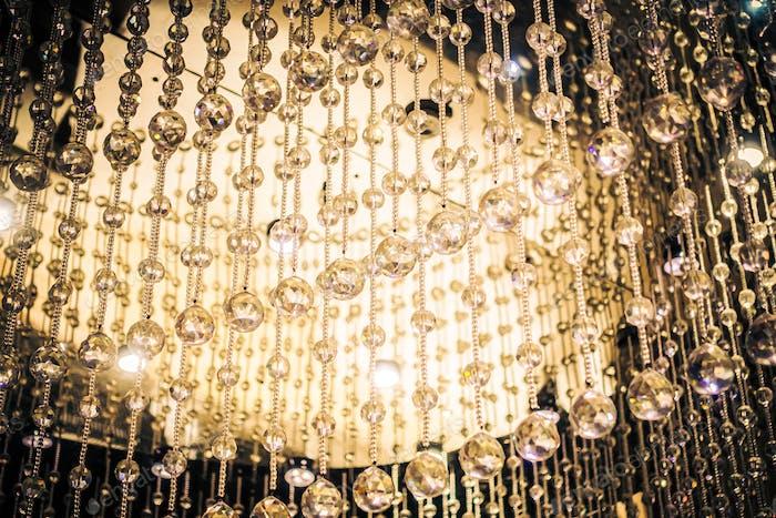Beautiful luxury crystal chandelier decoration interior