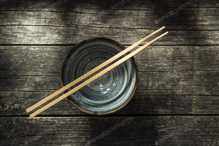 Asian bowl and chopstick.