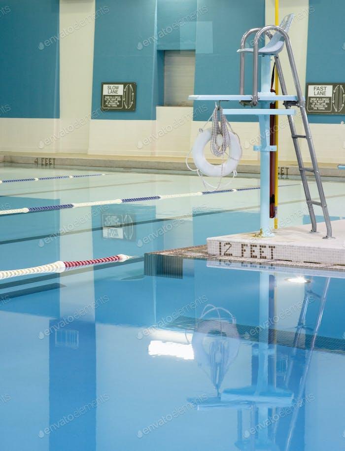 Rettungsschwimmer Stand und Pool