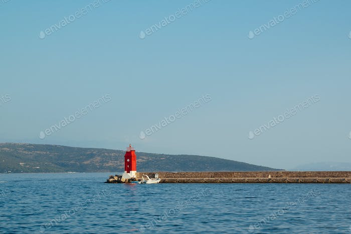 Lighthouse in Krk city , Croatia