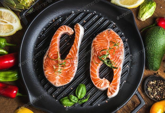 Dinner cooking ingredients