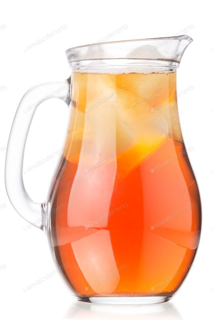 Iced kombucha tea mushroom jug, paths