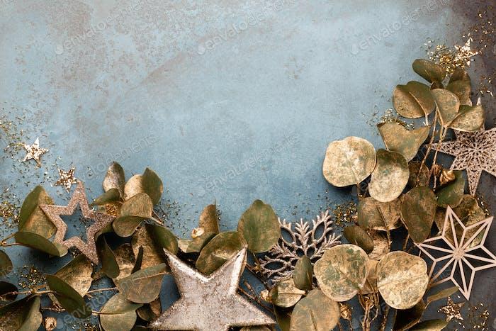 Neujahrsfeier und Weihnachten Hintergrund.