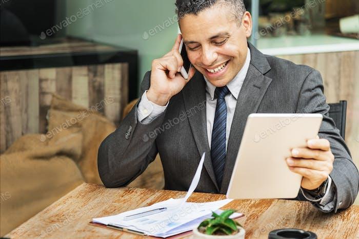 Businessman Growth Motivation Target Vision Concept