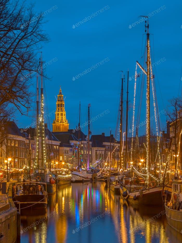 Altes Segelschiff im Zentrum von Groningen