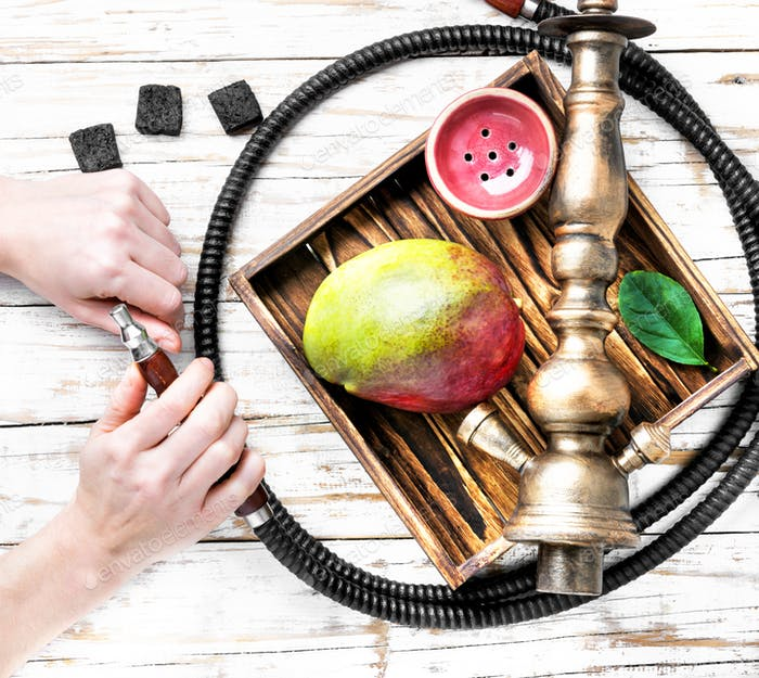 Asian tobacco hookah with mango aroma