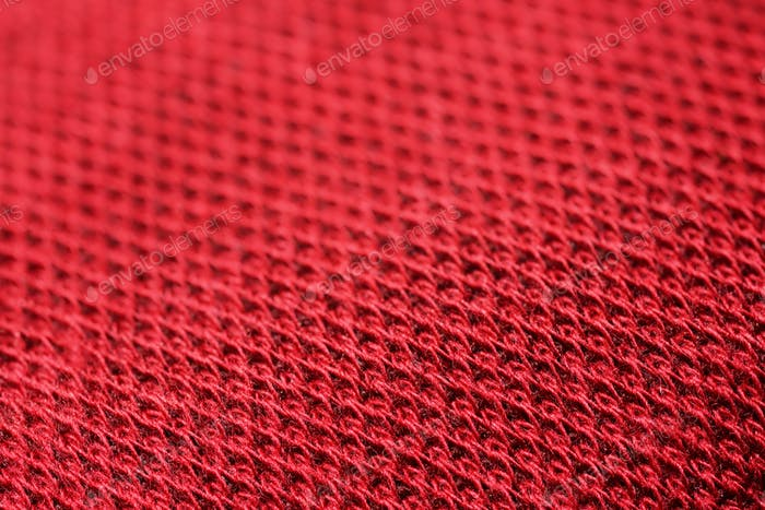 Red fabric canvas