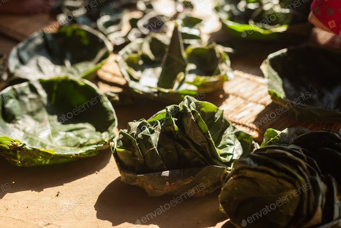 Leaf plates in Nepal
