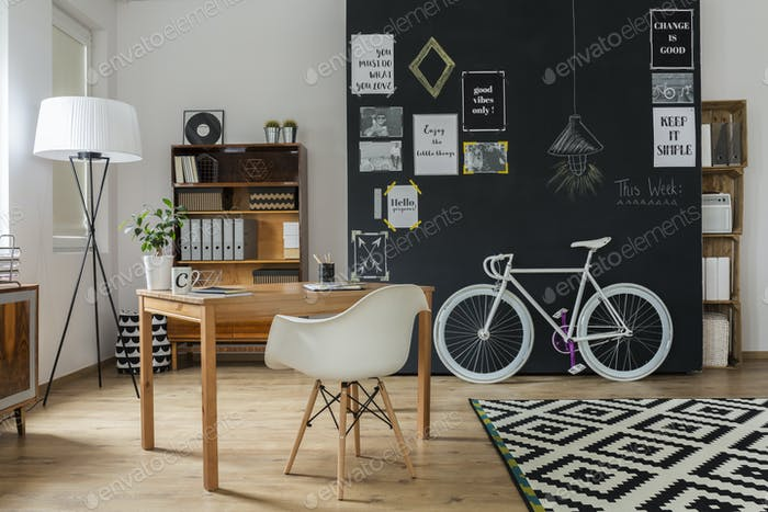 Modern apartment with hipster design