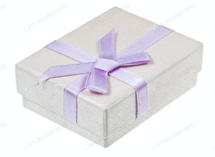 paper gift box with lilac bow