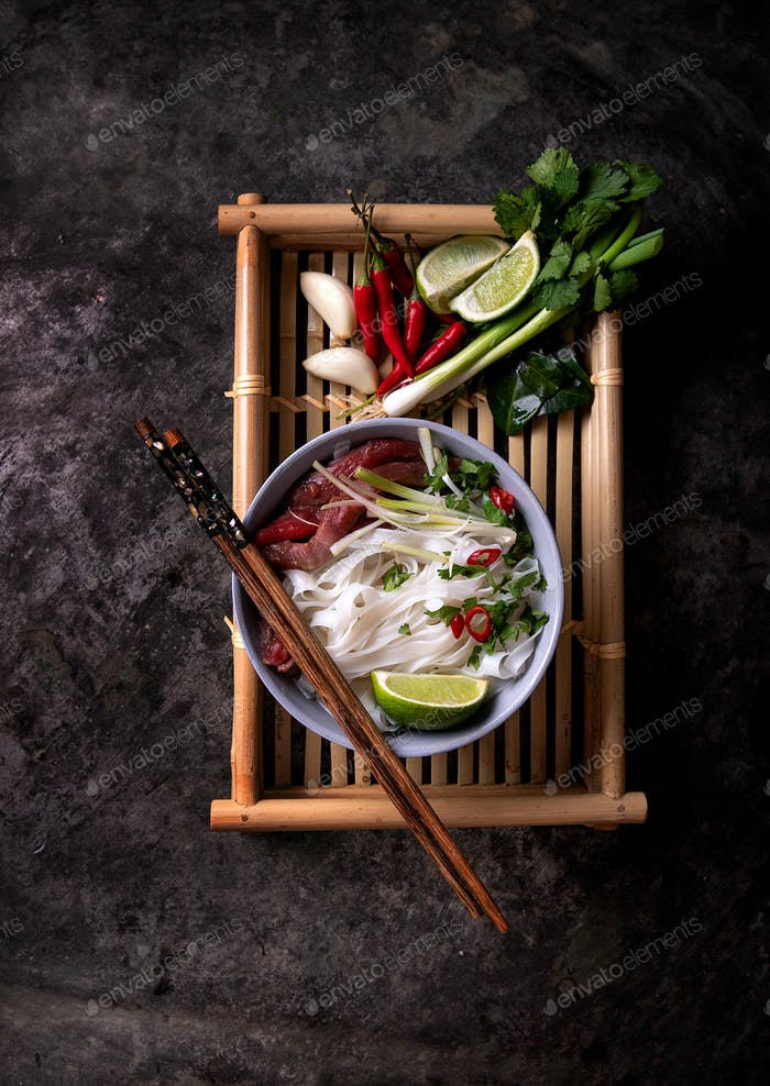 Traditional Vietnamese soup Pho Bo