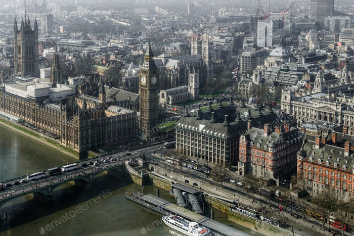 Aerial view of Big Ben
