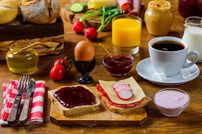 Breakfast Table Food