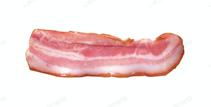 Bacon Strip isolated on white