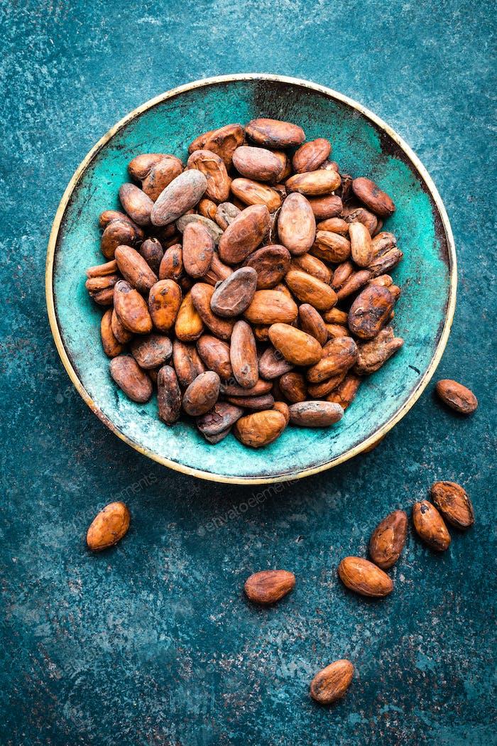 Kakaobohnen. Kakao