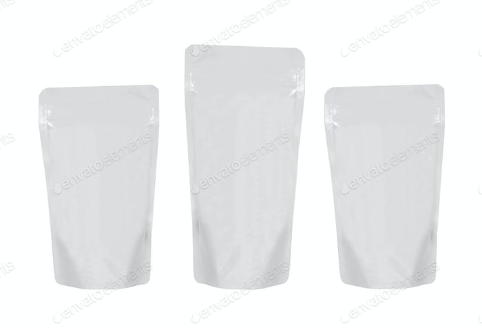 plastic pack isolated on white background