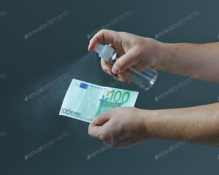 Gelddesinfektion