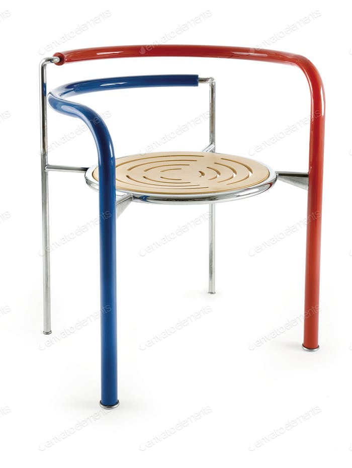 Design tricolor metal chair