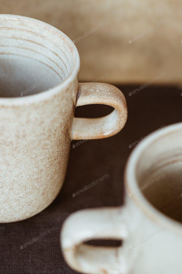 Macro abstract photography of modern minimalist ceramics