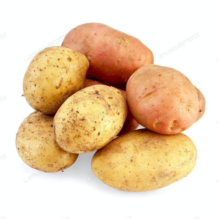 Potato pink and yellow
