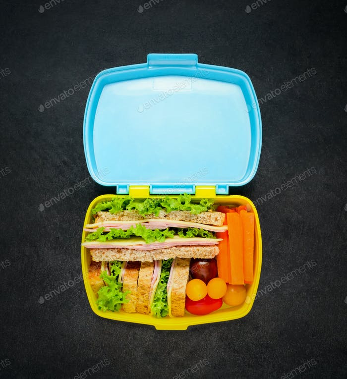 Lunch Box with Sandwich