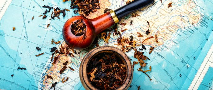 Tobacco pipe on the map